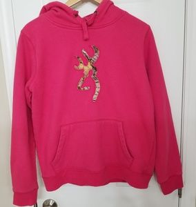 Pink and Camouflage Browning Hoodie